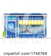Seafood Shop Building Storefront by Vector Tradition SM