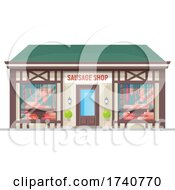 Sausage Shop Building Storefront by Vector Tradition SM