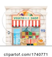 Vegetable Shop Building Storefront by Vector Tradition SM