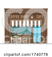 Coffee Shop Building Storefront