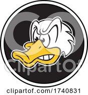 Poster, Art Print Of Duck School Or Sports Team Masoct Head