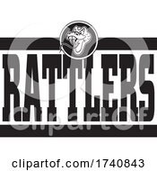 Snake School Or Sports Team Masoct Head With RATTLERS Text