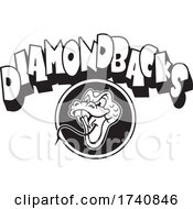 Snake School Or Sports Team Masoct Head With DIAMONDBACKS Text