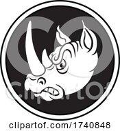 Rhino School Or Sports Team Masoct Head