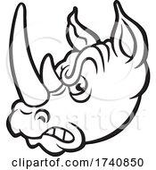 Poster, Art Print Of Rhino School Or Sports Team Masoct Head