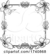 04/03/2021 - Plumeria Frangipani Tropical Flower Wedding Invite