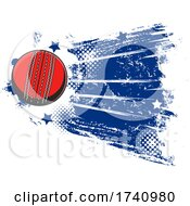 Cricket Ball With Grunge