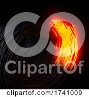 Fiber Optics AbstractBlur Background