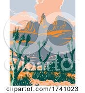 Castle Mountains National Monument Located In The Mojave Desert And San Bernardino County California WPA Poster Art