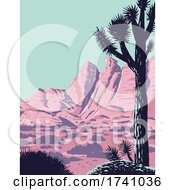 Joshua Tree In The Remote And Rugged Desert Landscape Of Gold Butte National Monument In Clark County Nevada WPA Poster Art by patrimonio