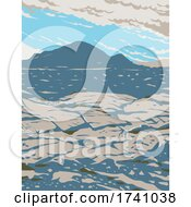 Craters Of The Moon National Monument And Preserve In The Snake River Plain In Central Idaho WPA Poster Art