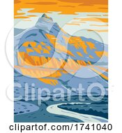 Sheep Rock In Sheep Rock Unit Of John Day Fossil Beds National Monument In Oregon WPA Poster Art by patrimonio