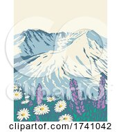 The Mount St Helens National Volcanic Monument Within Gifford Pinchot National Forest In Washington State WPA Poster Art by patrimonio