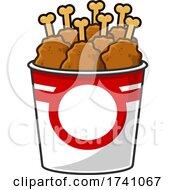 Cartoon Fried Chicken In A Bucket
