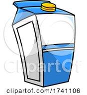 Cartoon Blue And White Milk Carton by Hit Toon