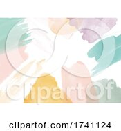 Abstract Hand Painted Watercolour Background