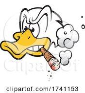 Cartoon Duck Smoking A Cigar