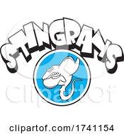 Stingrays School Mascot With Text