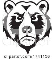 Black And White Bear Mascot Head