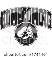 Poster, Art Print Of Black And White Big Cat Paw With Homecoming Text
