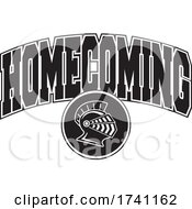 Poster, Art Print Of Black And White Knights Helmet With Homecoming Text