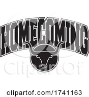 Poster, Art Print Of Black And White Longhorns With Homecoming Text