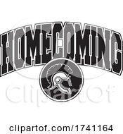 Black And White Trojans Or Spartans Helmet With HOMECOMING Text by Johnny Sajem