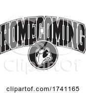 Poster, Art Print Of Black And White Yellow Jacket Or Hornet With Homecoming Text