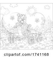04/07/2021 - Clown Driving An Antique Car