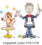 Magician With A Juggling Monkey