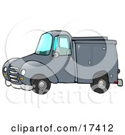 Blue Work Truck With Built In Compartments For Needed Supplies Clipart Illustration