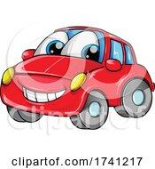 04/09/2021 - Red Car Mascot Cartoon