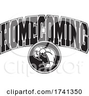 Black And White Eagles Hawks Falcons Or Bird Homecoming Design by Johnny Sajem