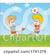 Boys Playing Soccer by Alex Bannykh #COLLC1741379-0056