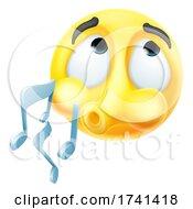 Whistling Tune Emoticon Cartoon Face