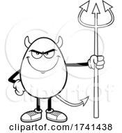 Black And White Devil Egg Character
