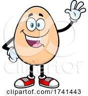 Egg Character Waving