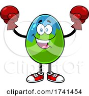 Easter Egg Character Wearing Boxing Gloves
