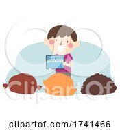 Kid Boy Weather Week App Illustration