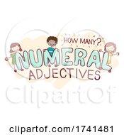Stickman Kids Numeral Adjectives Illustration