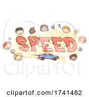 Stickman Kids Speed Illustration