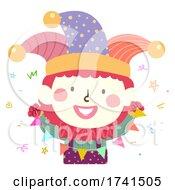 Kid Clown Costume Buntings Illustration
