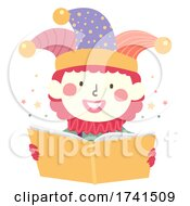 Kid Clown Costume Read Book Illustration