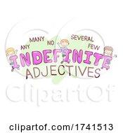 Stickman Kids Indefinite Adjectives Illustration