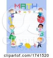 Stickman Kids Math Paper Frame Illustration