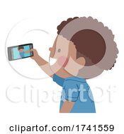 Kid Boy Black Take Picture Mobile Illustration