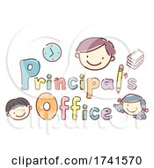 Stickman Kids Principals Office Illustration