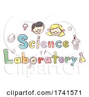 Stickman Kids Science Laboratory Illustration