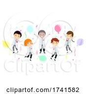 Stickman Kids Science Award Winners Illustration