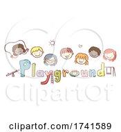 Poster, Art Print Of Stickman Kids School Playground Illustration